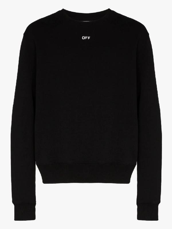 """Off-white Sweatshirt Mit """"stencil Arrows""""-print In Black"""