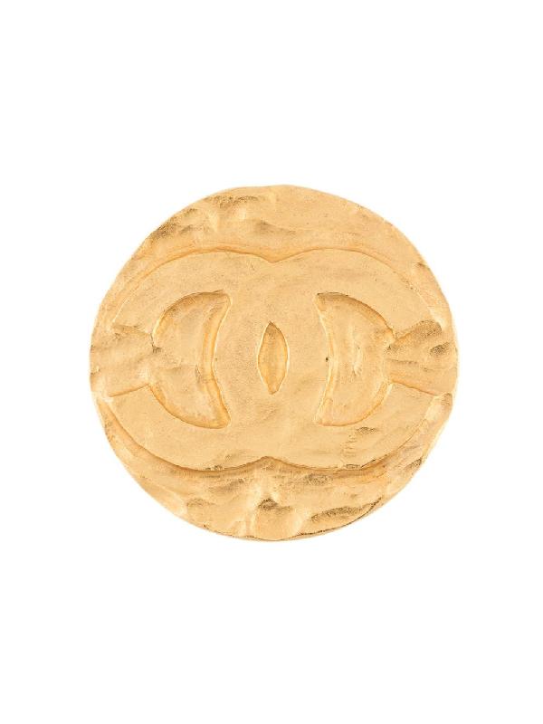 Chanel 1994 Cc Brooch In Gold