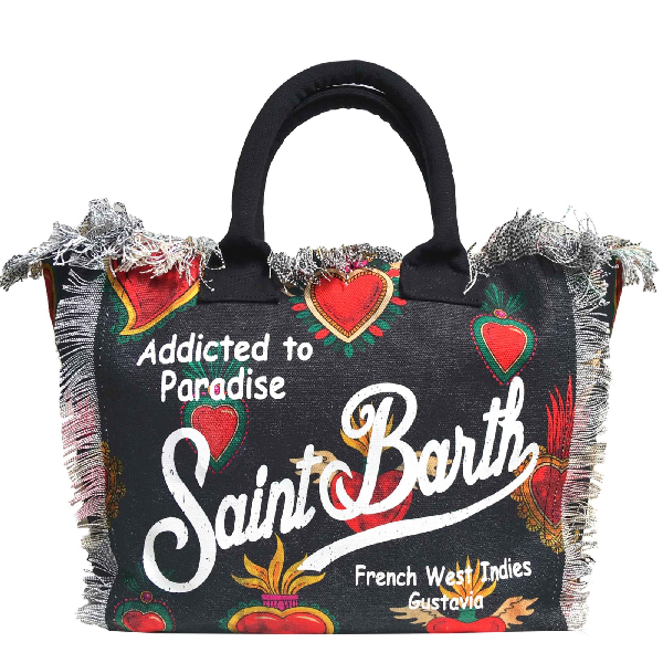 Mc2 Saint Barth Sacred Hear Canvas Bag