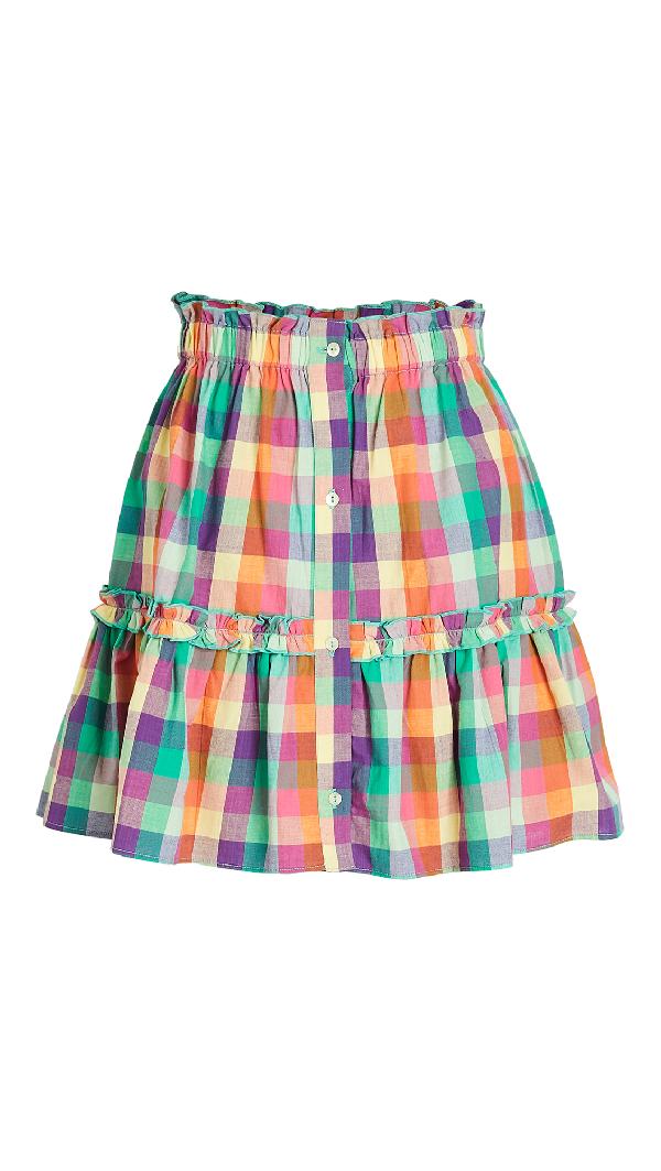 Playa Lucila Plaid Skirt In Multi