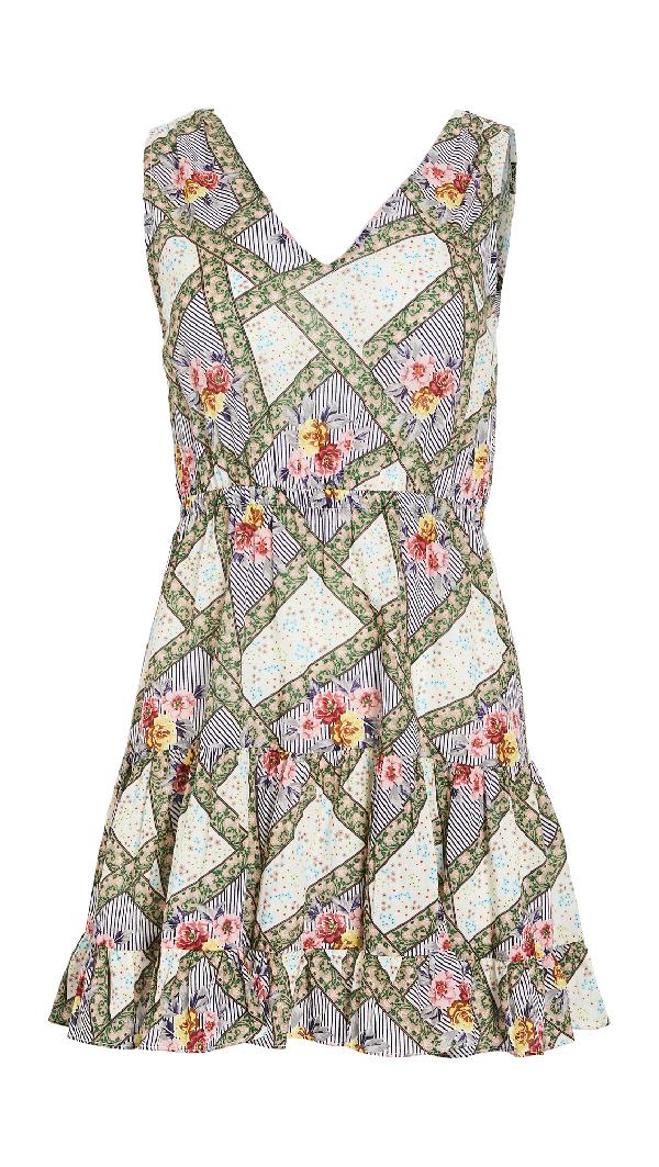 Playa Lucila Tie Shoulder Dress In Multi