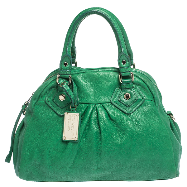 Marc By Marc Jacobs Green Leather Classic Q Baby Aidan Satchel