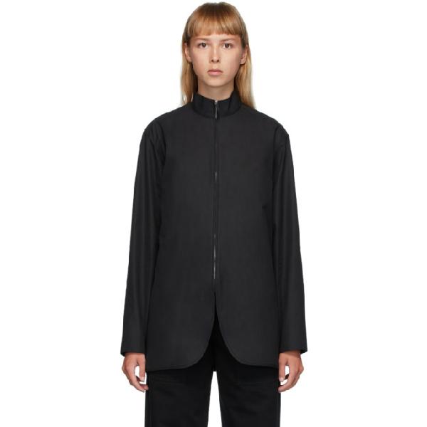 The Row Black Zana Shirt In Blk Black