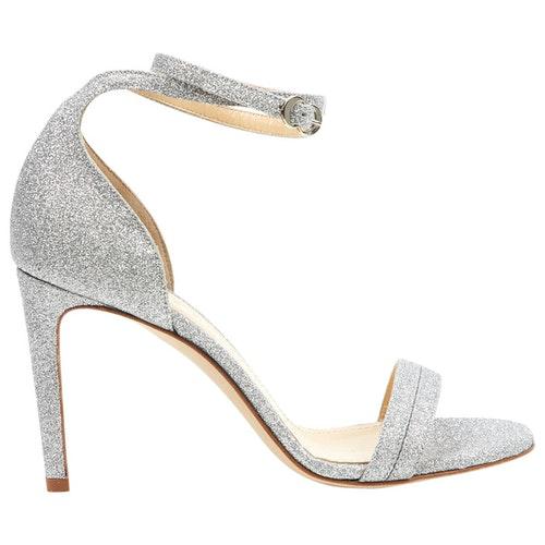Chloe Gosselin Silver Glitter Sandals