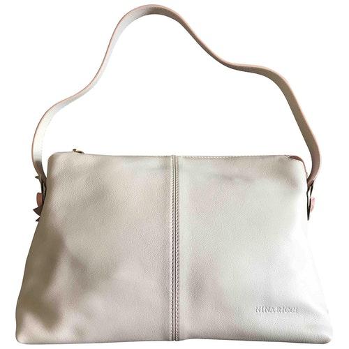 Nina Ricci White Leather Handbag