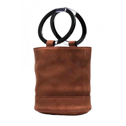 Simon Miller Medium Bonsai Brown Suede Handbag