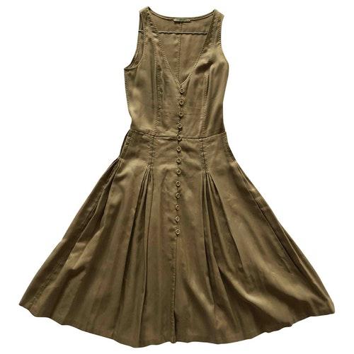 Bottega Veneta Khaki Cotton Dress