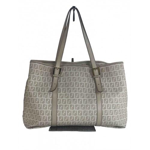 Fendi Roll Bag  Ecru Cloth Handbag