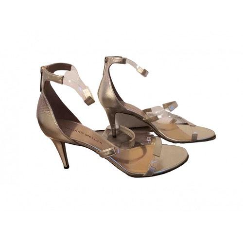 Tamara Mellon Gold Leather Sandals