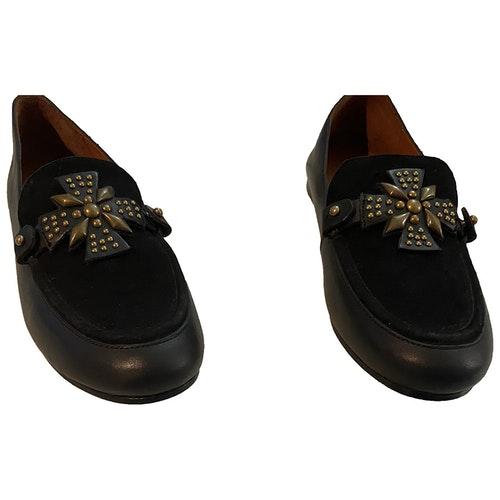 Swildens Black Leather Flats