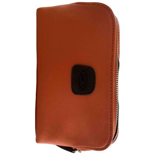 Bric's Orange Leather Travel Bag