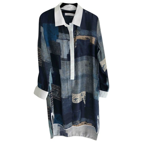 Altuzarra Blue Silk Dress
