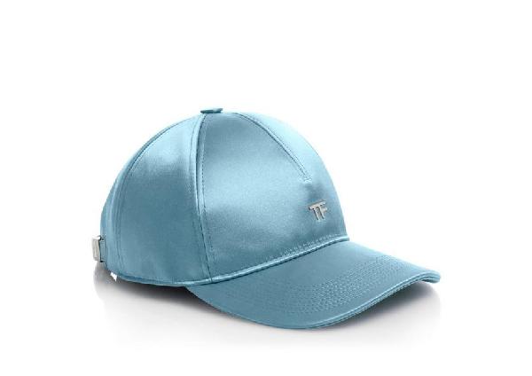 Tom Ford Satin Tf Baseball Cap In Blue