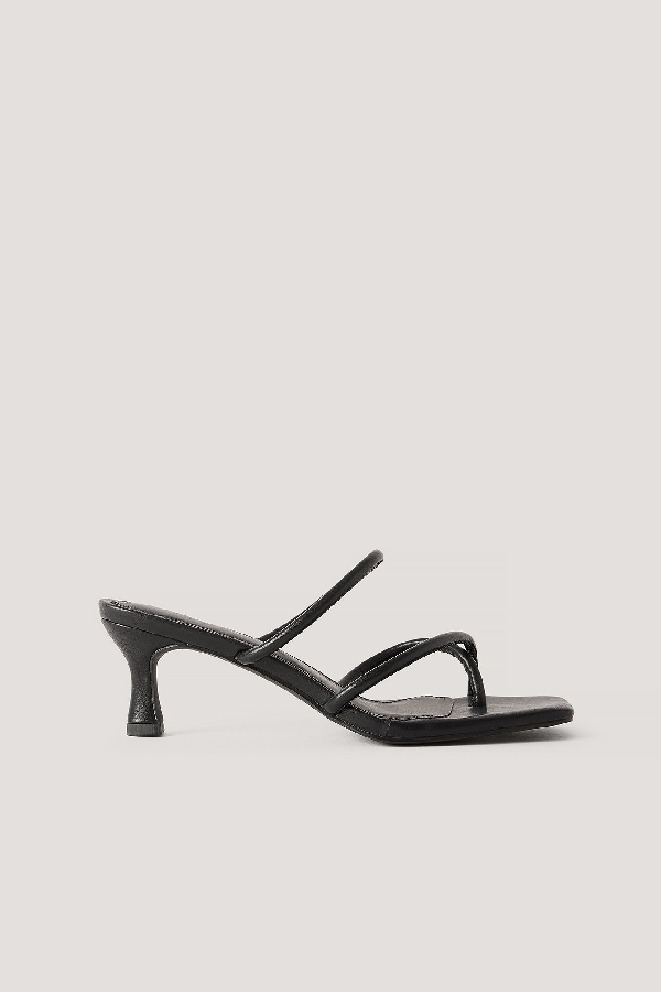 Misslisibell X Na-kd Strap Heel Sandal Black