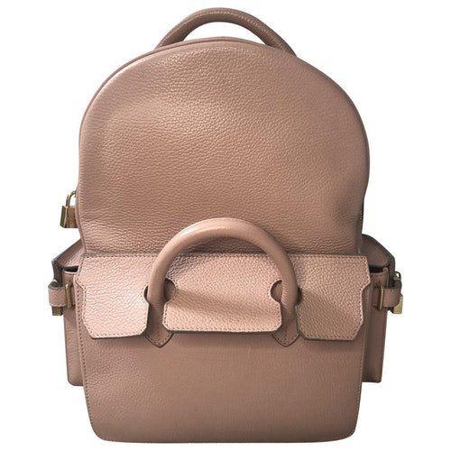 Buscemi Pink Leather Backpack