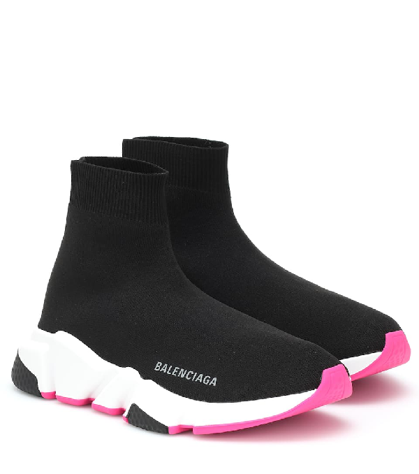 Balenciaga 30mm Speed Knit Sneakers In Black