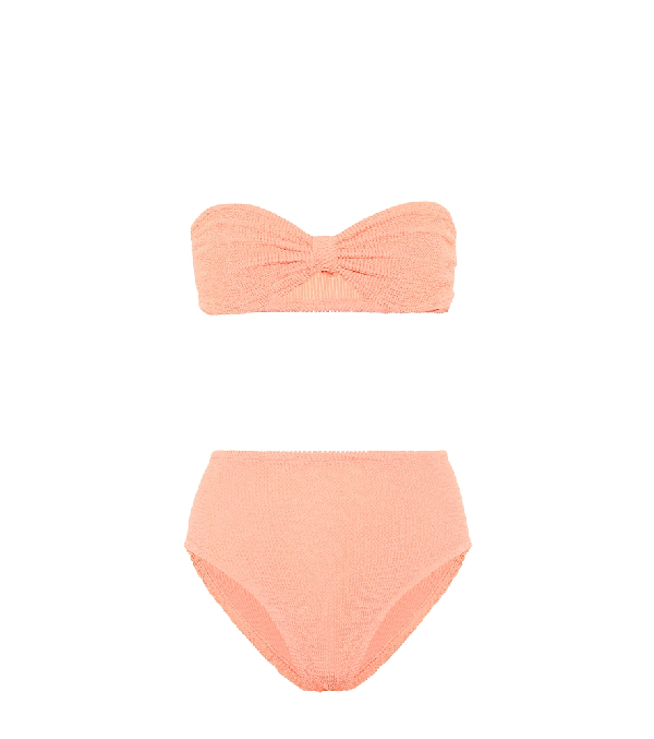 Hunza G Exclusive To Mytheresa - Posey Bandeau Bikini In Orange
