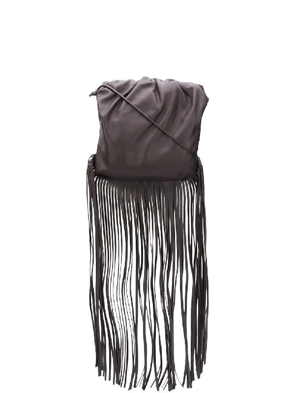 Bottega Veneta The Fringe Pouch Shoulder Bag In Brown