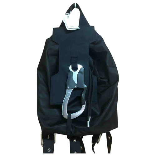 Alyx Black Cotton Backpack