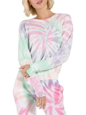 N:philanthropy It Was All A Dream Kojak Sweatshirt In Pink Panther Spiral