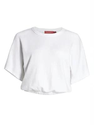N:philanthropy Fear & Loathing Drew Short-sleeve Sweatshirt In White