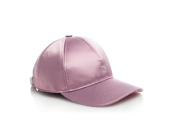 Tom Ford Satin Tf Baseball Cap In Pink