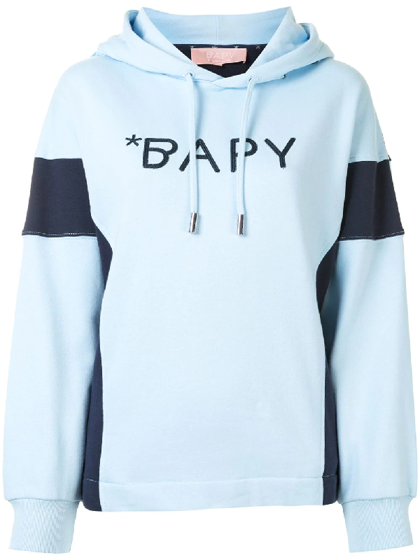 Bapy By *a Bathing Ape® Contrast-panel Logo Hoodie In White