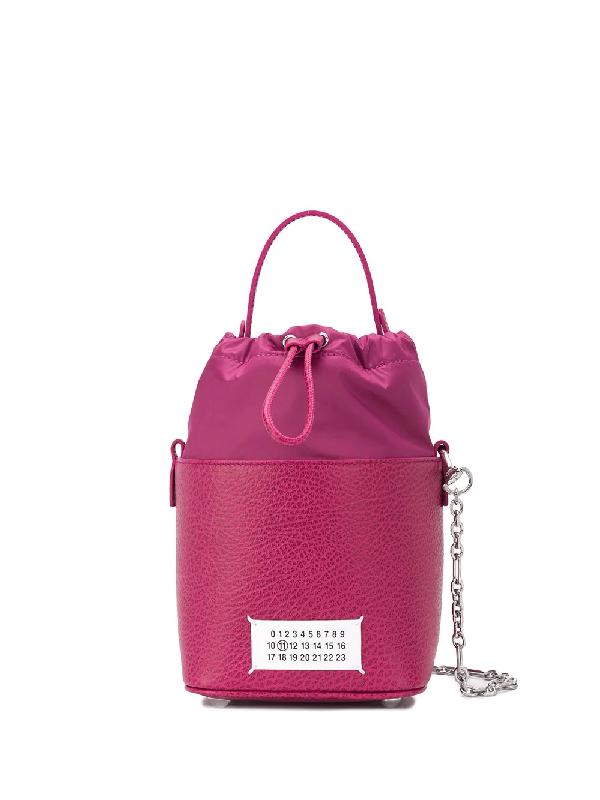 Maison Margiela Top Handle Bucket Bag In 粉色