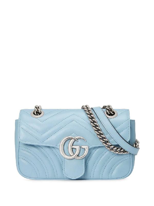 Gucci 'gg Marmont' Mini-tasche In Blue