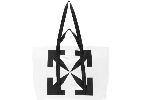 Off-white Logo Tote Pvc White