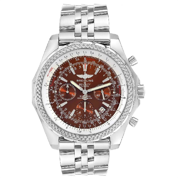 Breitling Bentley Motors Bronze Dial Chronograph Steel Mens Watch A25362 In Not Applicable