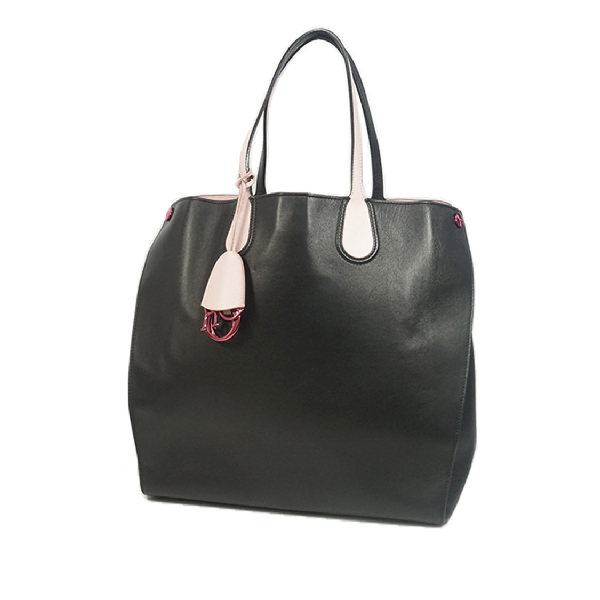 Dior Leather Addict Tote In Black