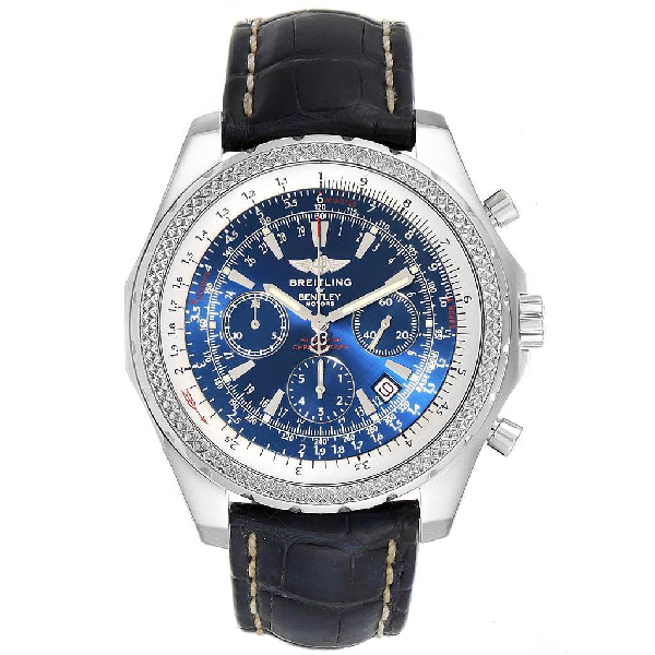 Breitling Bentley Motors Blue Dial Chronograph Watch A25362 Box In Not Applicable