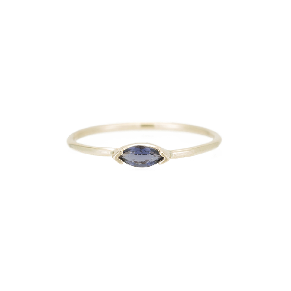 Ariel Gordon Jewelry Marquis Wink Ring In Yellow Gold/iolite