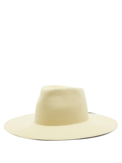 Reinhard Plank Hats Abstract-painted Felt Hat In Yellow