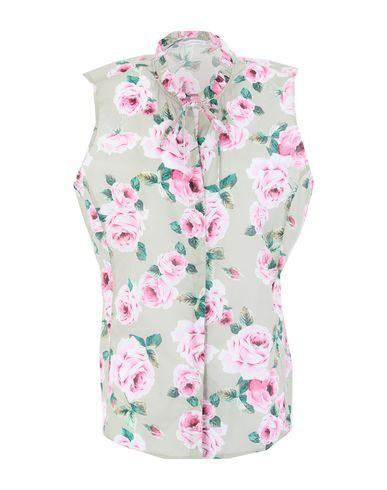 Robert Friedman Floral Shirts & Blouses In Beige