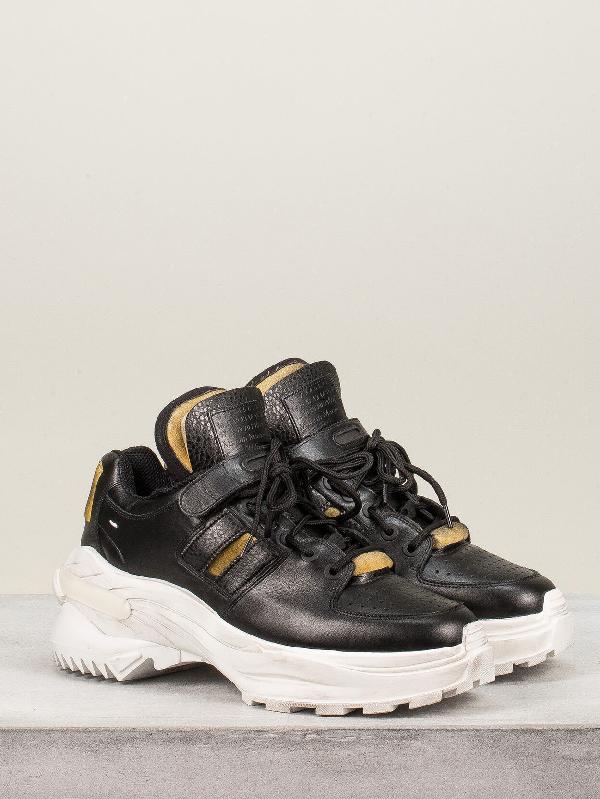 Maison Margiela Martin Margiela Retro Fit Low Top Sneakers In Black