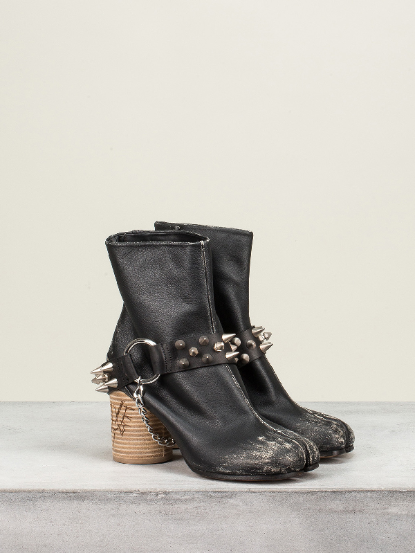 Maison Margiela Ankle Boot Studs In Black