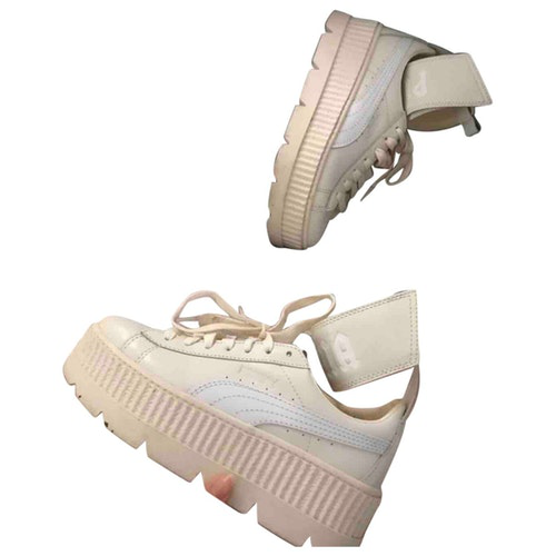 Fenty X Puma Beige Leather Trainers
