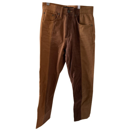 Y/project Brown Cotton Jeans