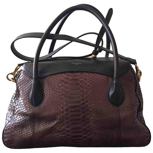 Nina Ricci Brown Python Handbag