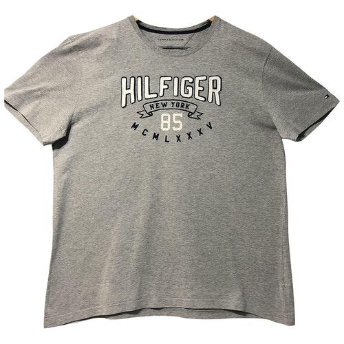 Tommy Hilfiger Grey Cotton T-shirts