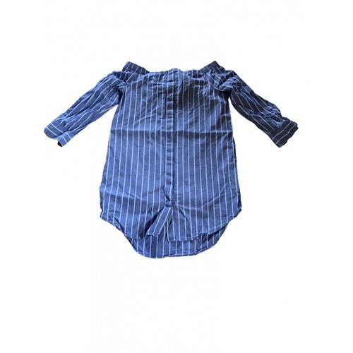 Equipment Blue Cotton Dress
