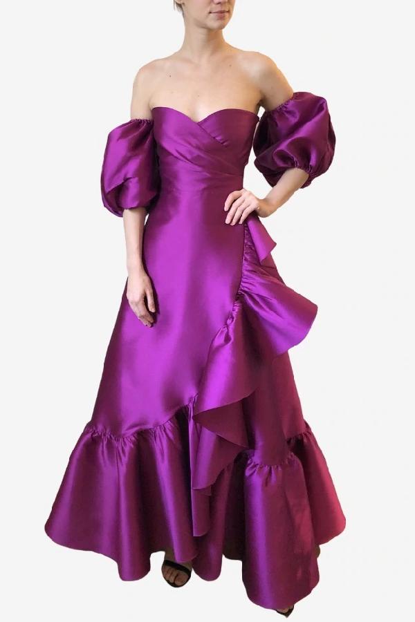 Sachin & Babi Lanah Gown In Purple