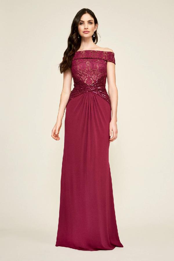 Tadashi Shoji Aurelia Jersey Gown