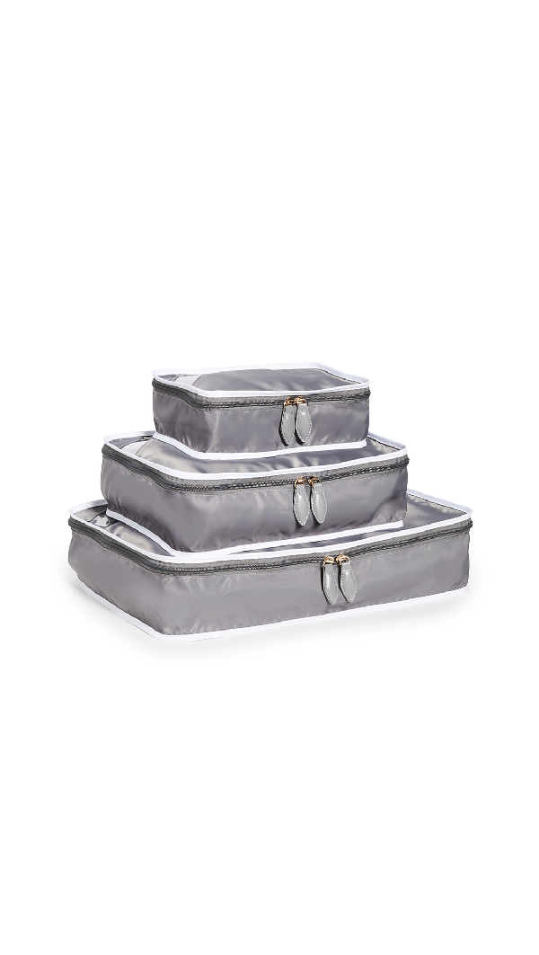 Paravel Packing Cube Trio In Sidecar Grey