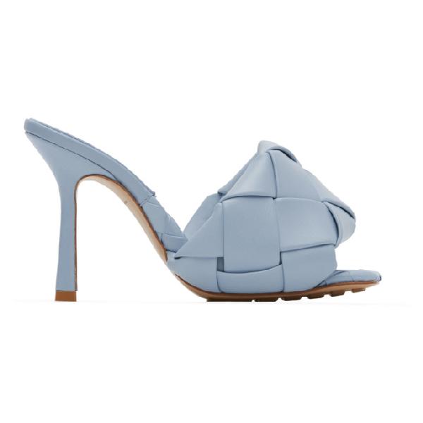 Bottega Veneta Women's Woven Leather High-heel Sandals In 4759 Ice