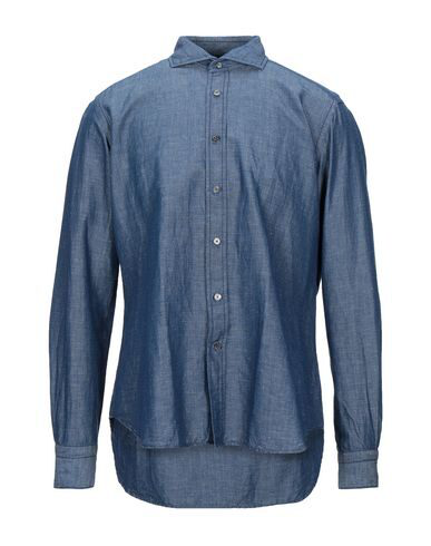 Robert Friedman Solid Color Shirt In Blue