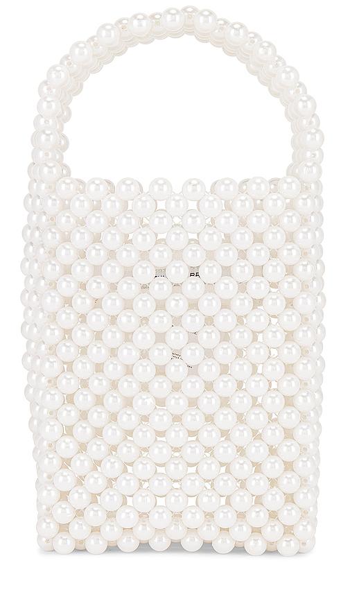 Faithfull The Brand Frederikke 珍珠装饰包 – White Pearl
