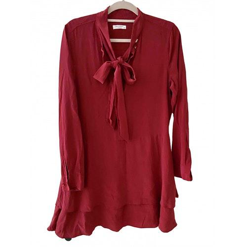 Equipment Red Silk Dress